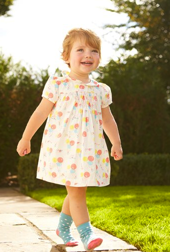 mini boden printed dress and bloomers