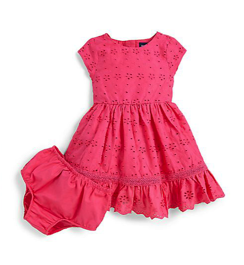 ralph lauren dress and bloomers set