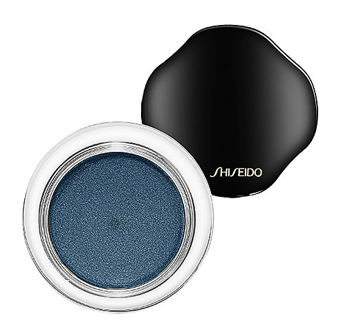 shiseido shimmering cream eye color in peacock blue