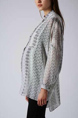 topshop snakeskin print maternity top
