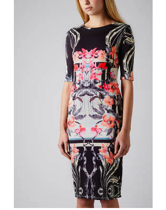 topshop orchid print dress