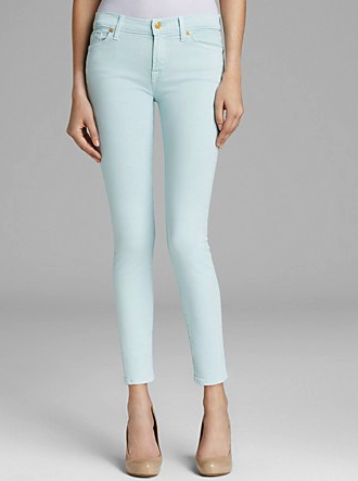 7 For All Mankind mint jeans