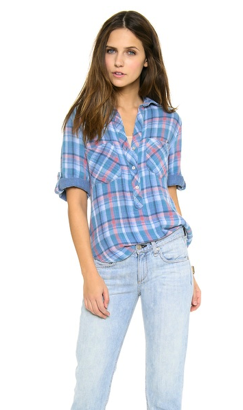 Bella Dahl plaid shirt