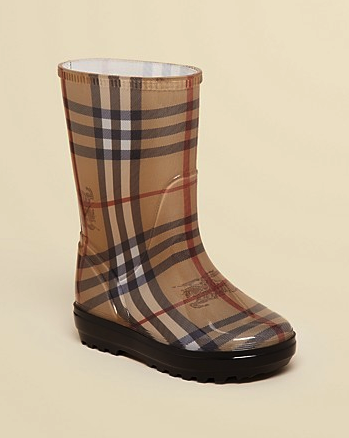Burberry kids rain boots