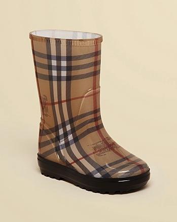 Burberry kids rain boots
