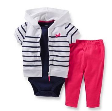 Carter's hoodie cardigan set