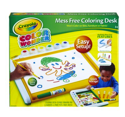 Crayola mess free coloring desk