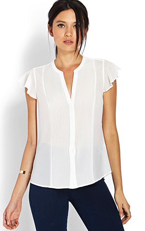Forever 21 pleated top