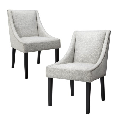 Griffin nailhead dining chairs (set of 2)