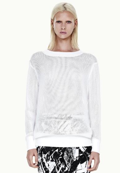 Helmut Lang knit sweatshirt