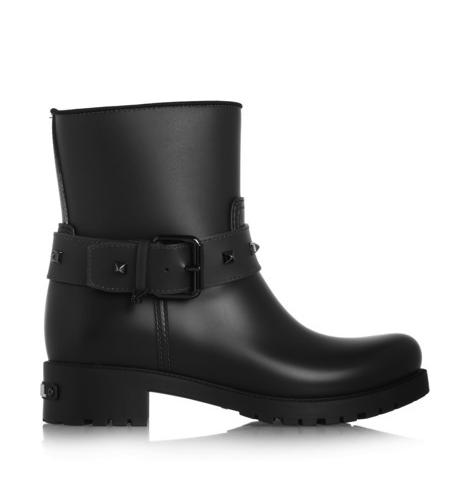 Karl Lagerfeld biker rain boots
