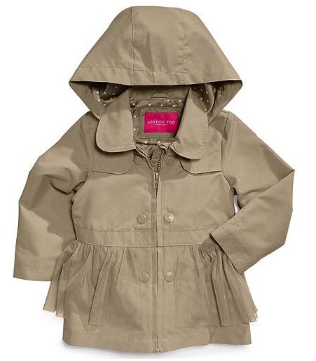 London Fog baby trench coat