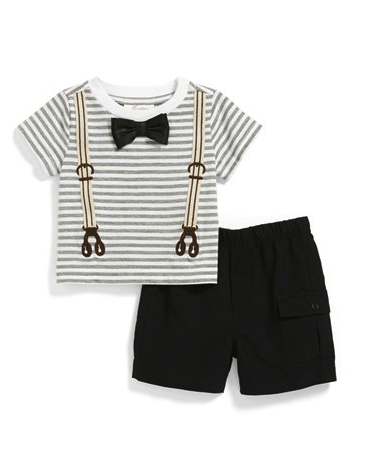 Miniclasix tee and shorts set