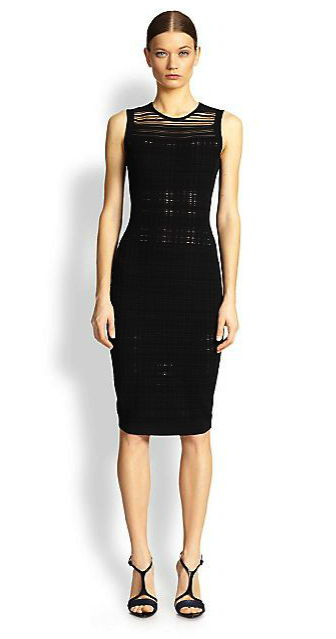 Narciso Rodriguez plaid knit dress