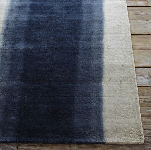 Ombre dyed rug