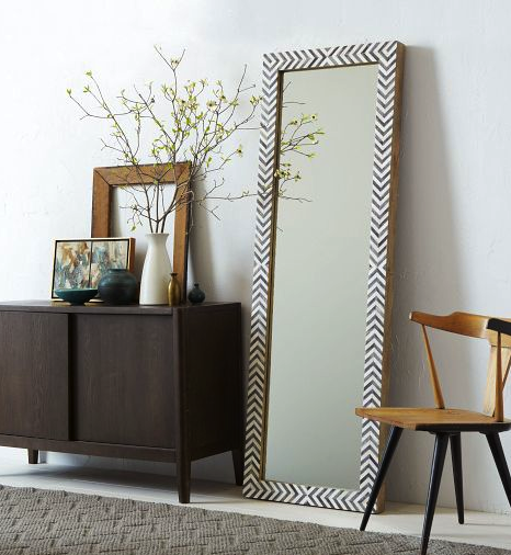 Parsons floor mirror