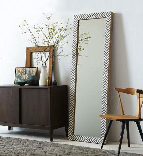 Parsons floor mirror