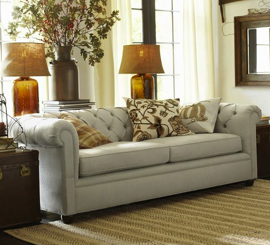 Pottery Barn chesterfield sofa