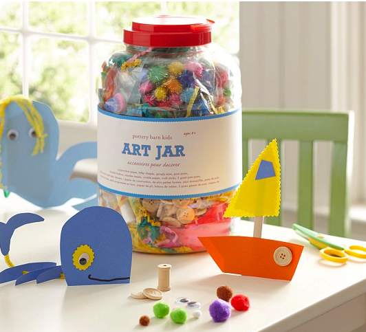 Pottery Barn craft jar