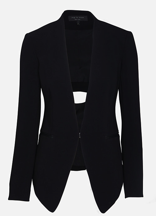 Rag & Bone blazer with cut out back