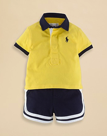 Ralph Lauren rugby shirt and short set
