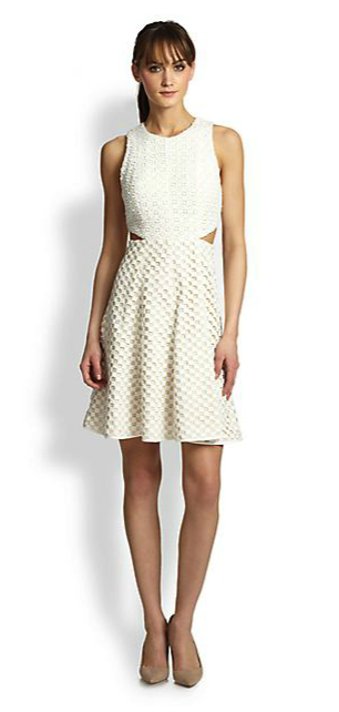Tibi perforated dress