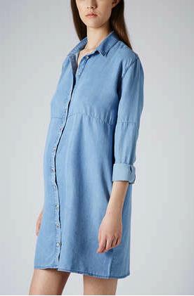 Topshop maternity shirt dress