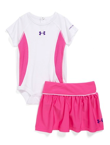 Under Armour skirt and bodysuit set