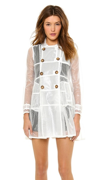 RED Valentino rain coat