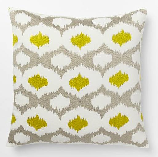 Velvet Ikat pillows