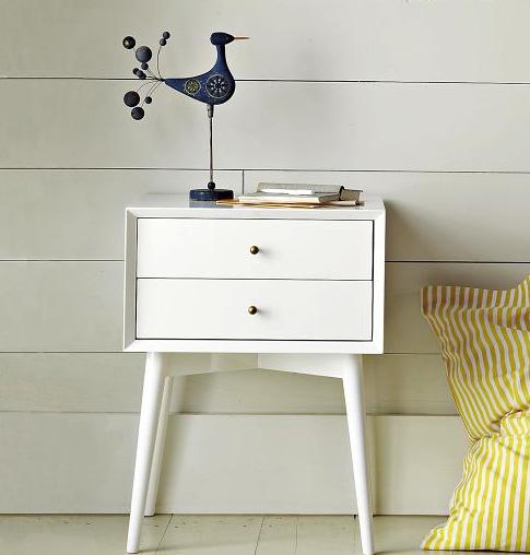 West Elm mid-century modern nightstand