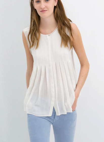 Zara pleated top