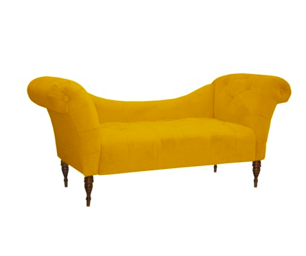 tufted chaise settee
