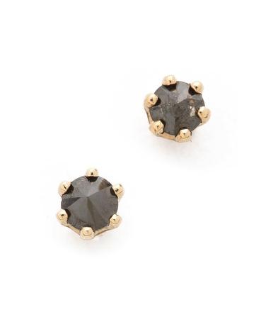 Blanca Monros Gomez black diamond studs