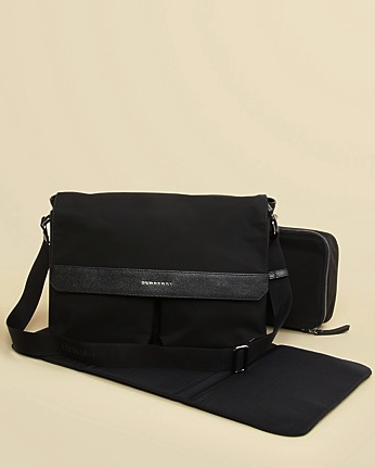 Burberry messenger diaper bag