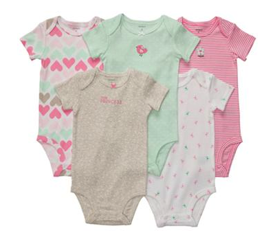 Carter's 5 pack of bodysuits