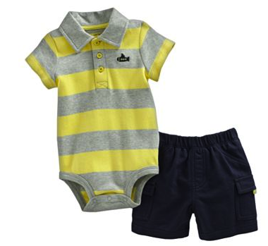 Carter's bodysuit and shorts set