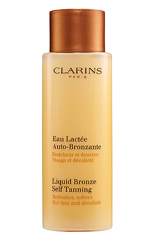 Clarins liquid bronze self tanning for the face