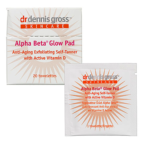 Dr. Dennis Gross glow pads (exfoliates, tans and anti aging)