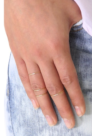 Gabriela Artigas set of 4 gold bands