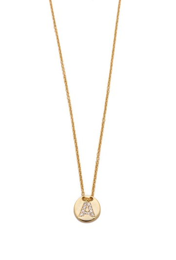 Gorjana alphabet coin necklace