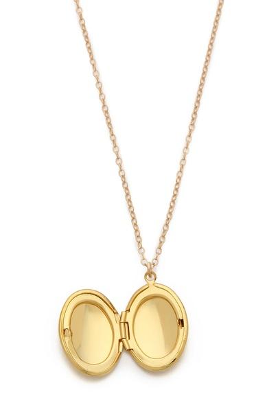 Gorjana locket necklace