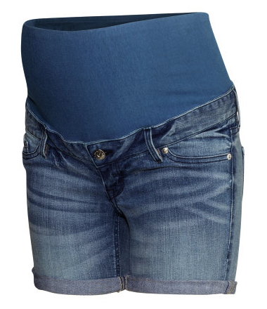 H&M maternity denim shorts