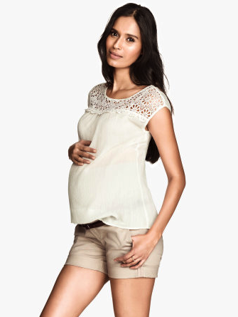 H&M maternity shorts