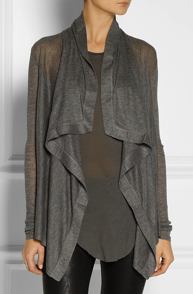 Helmut Lang draped cardigan