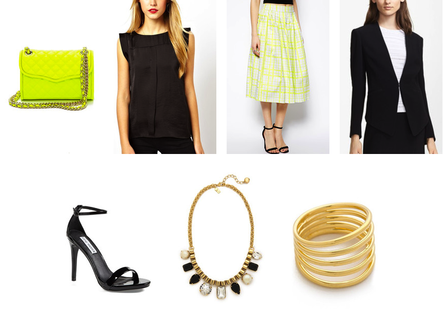 How to wear neon accessories from desk to date
