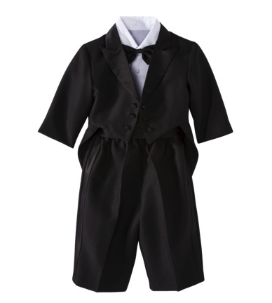 Infant tux with tails