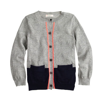 J Crew girls cardigan