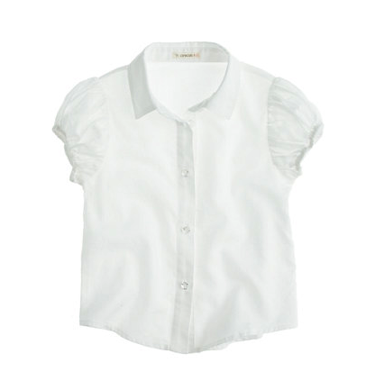 J Crew girls oxford shirt