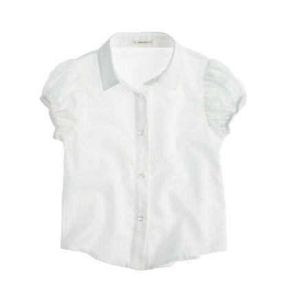 J Crew girls oxford shirt